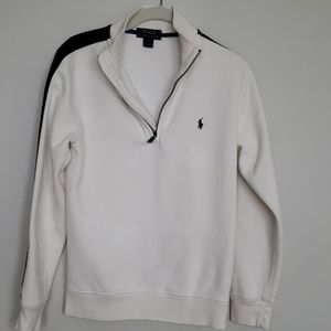 Polo Zippered Front Sweatshirt